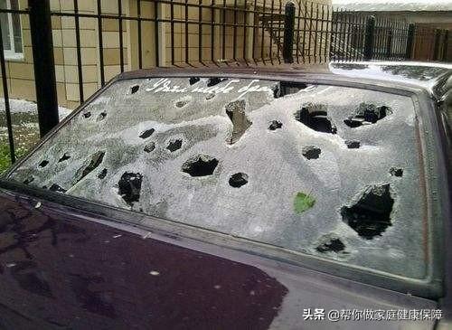 汽车因冰雹受损时,有购买车损险的可申请理赔